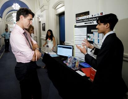 Om Agarwal - Prime Minister Justin Trudeau's Science Fair